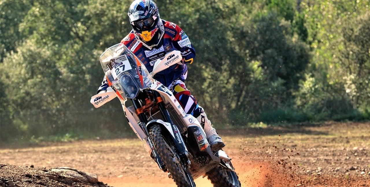 Matthias Walkner trainiert für die Rallye Dakar