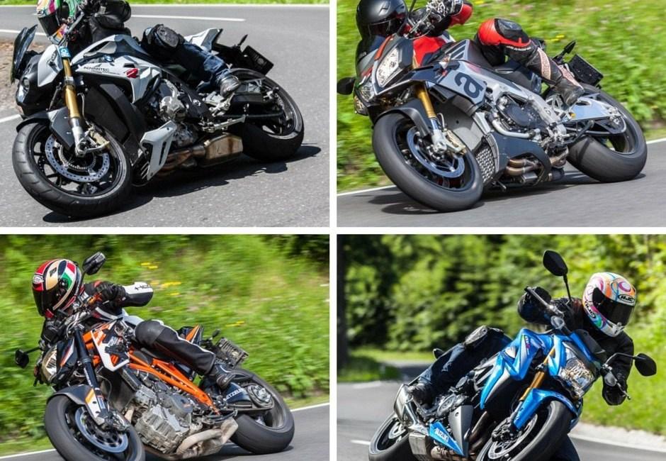 Nakedbike Vergleich 2015 - KTM BMW Suzuki Aprilia