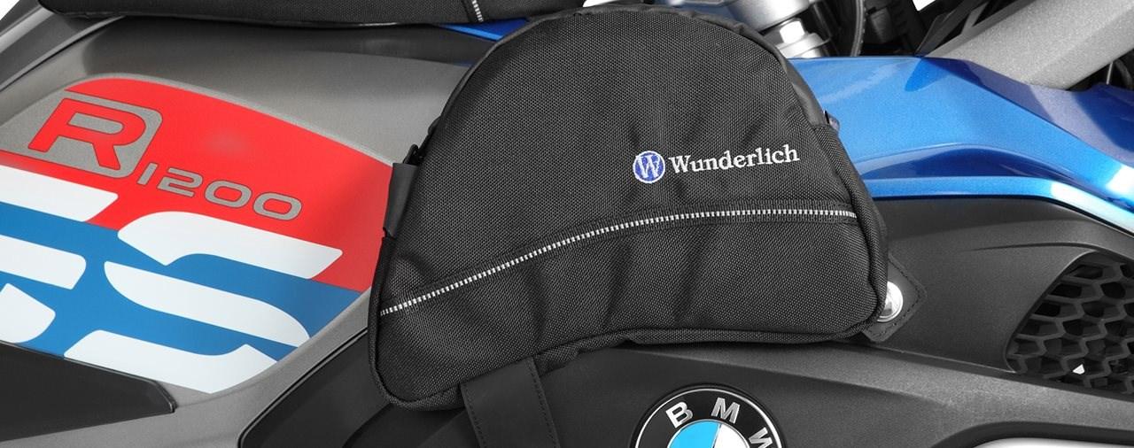 Neue Tank-Seitentaschen für die GS von Wunderlich