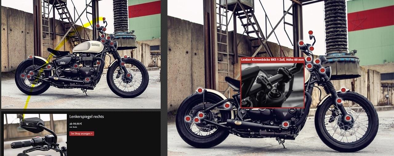 ABM bietet innovatives Tool zur Präsentation von Motorradumbauten