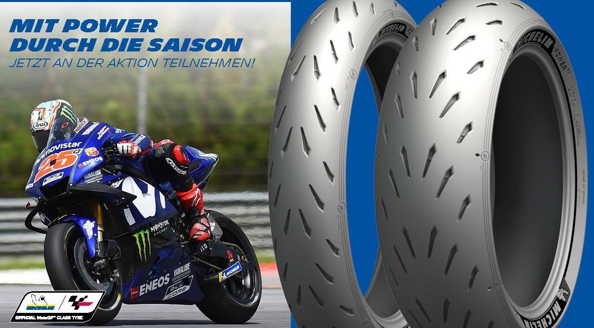 Mit Michelin nagelneue Yamaha R6 gewinnen
