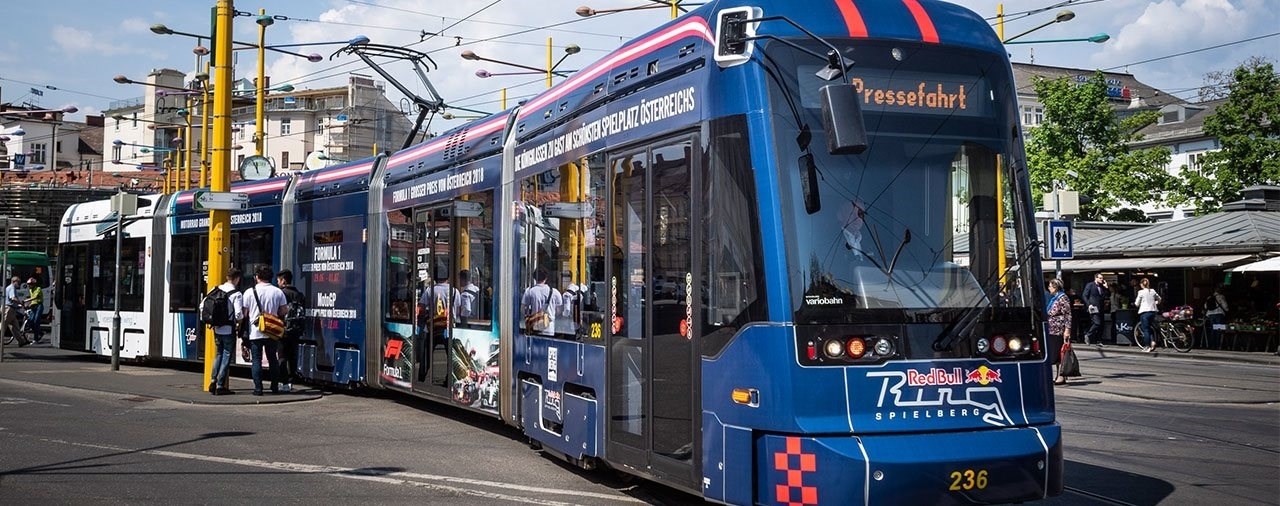 Die Grazer Straßenbahn im GP-Design