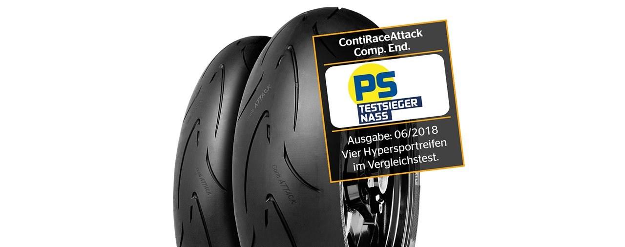 Continental Hypersport-Motorradreifen überzeugt PS-Reifentester