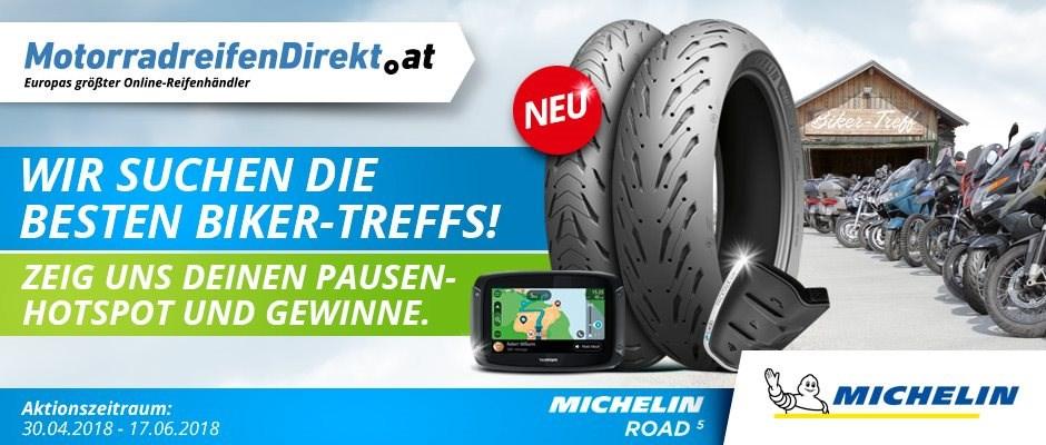 MotorradreifenDirekt.at und Michelin suchen Biker-Treffs