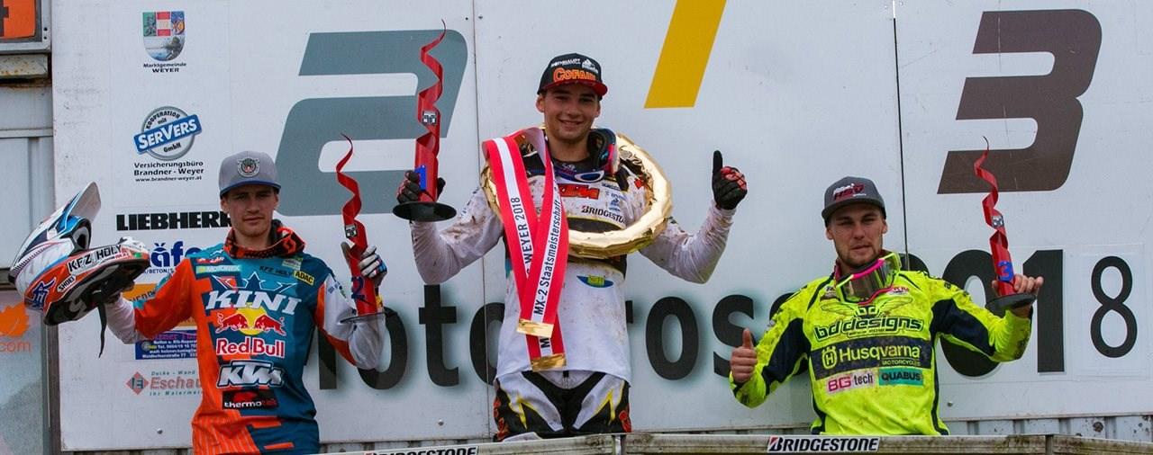 Doppelsieg bei den Motocross Staatsmeisterschaften in Weyer