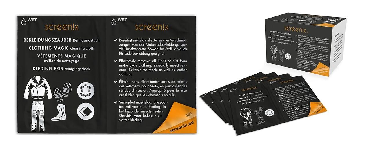 Screen!x Lederfit und Bekleidungszauber