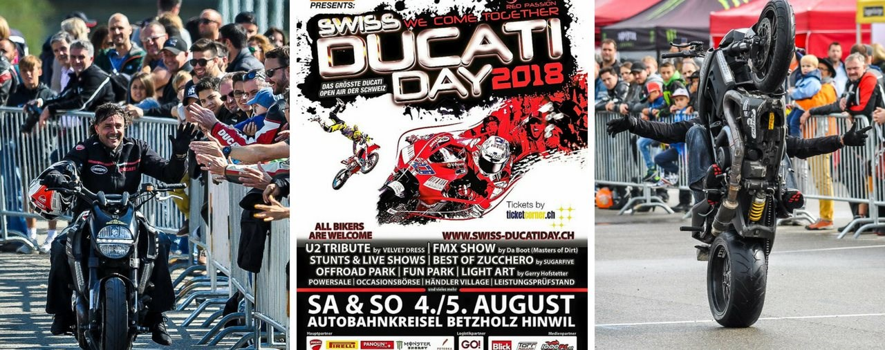 Swiss Ducati Day 2018: 4. bis 5. August