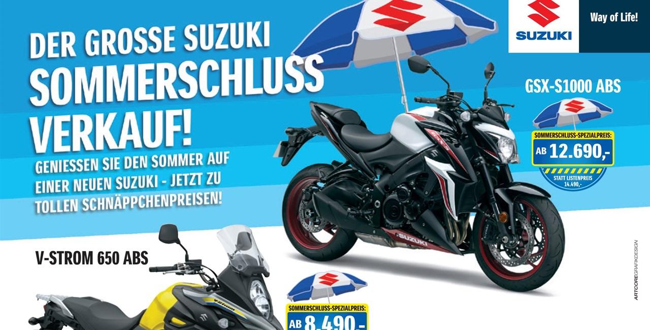 Großer Suzuki Sommerschlussverkauf 2018
