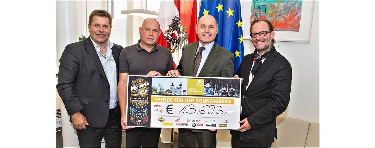 Jede Menge Spenden für die Basilika in Sonntagberg