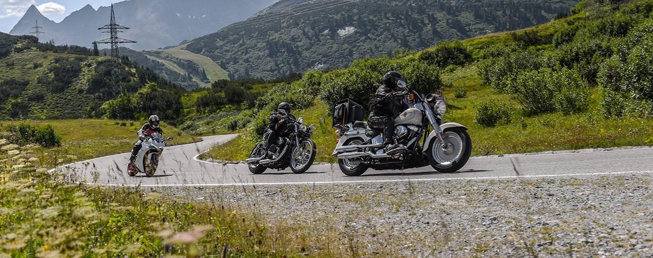 Spektakuläres Motorrad-Gipfeltreffen im Paznaun