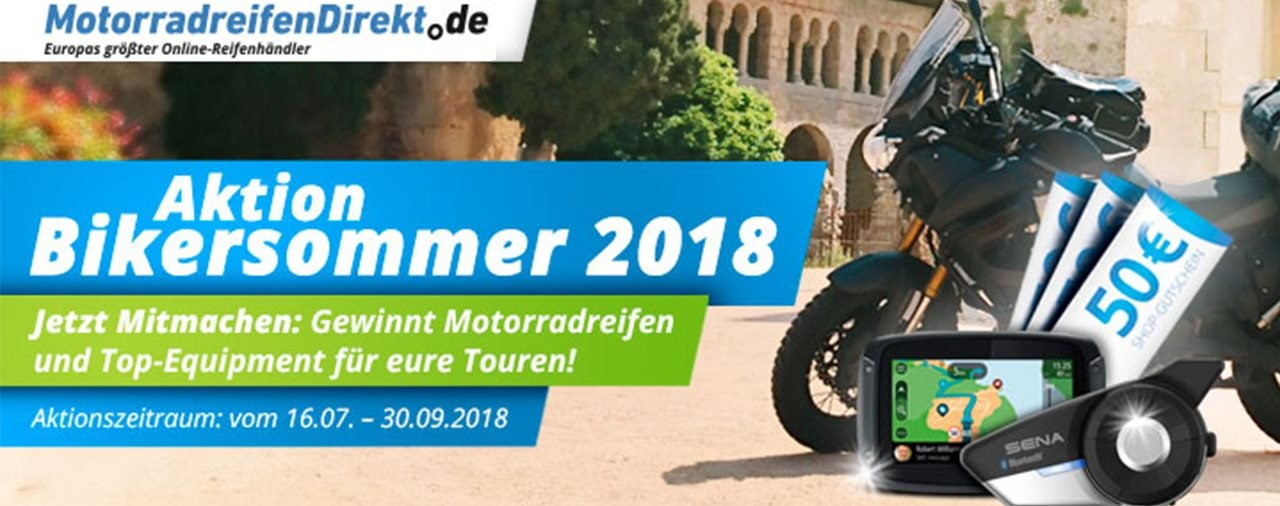 Bikersommer-Gewinnspiel: Equipment im Wert von 2000€ abstauben