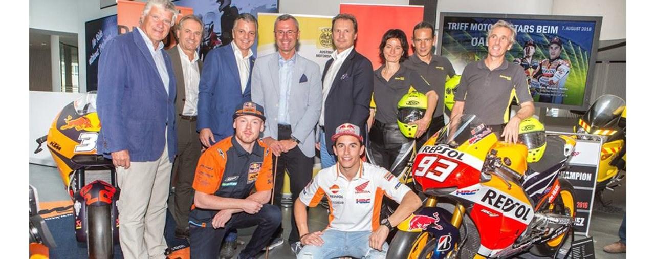 MotoGP-Fahrer präsentierten Verkehrssicherheits-Kampagne