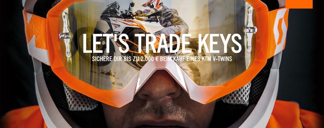 KTM Sonderaktion LET'S TRADE KEYS