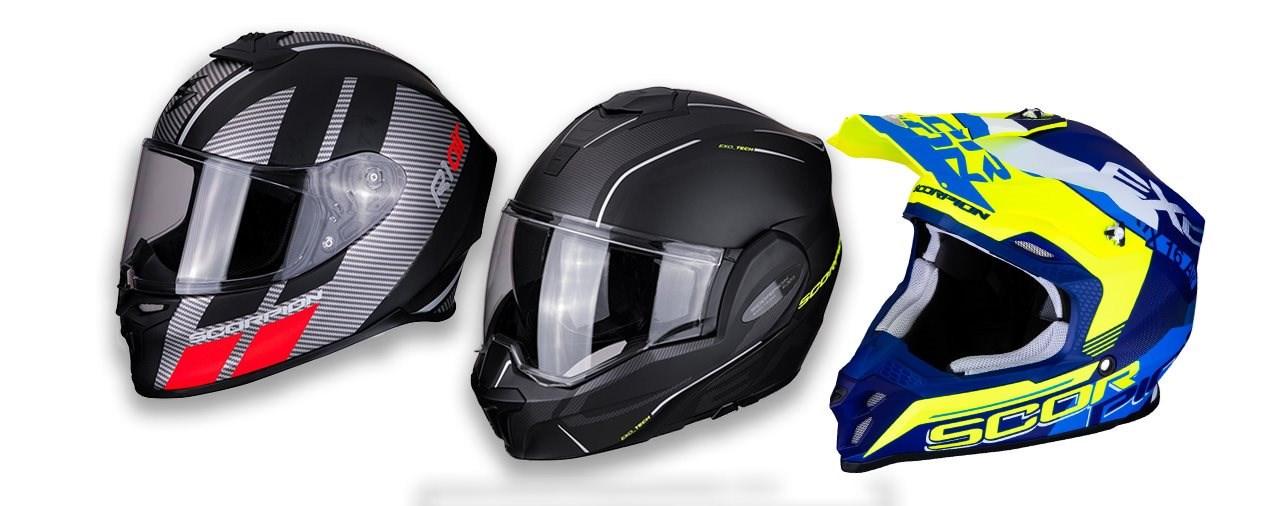 Scorpion präsentiert für 2019 drei komplett neue Helme