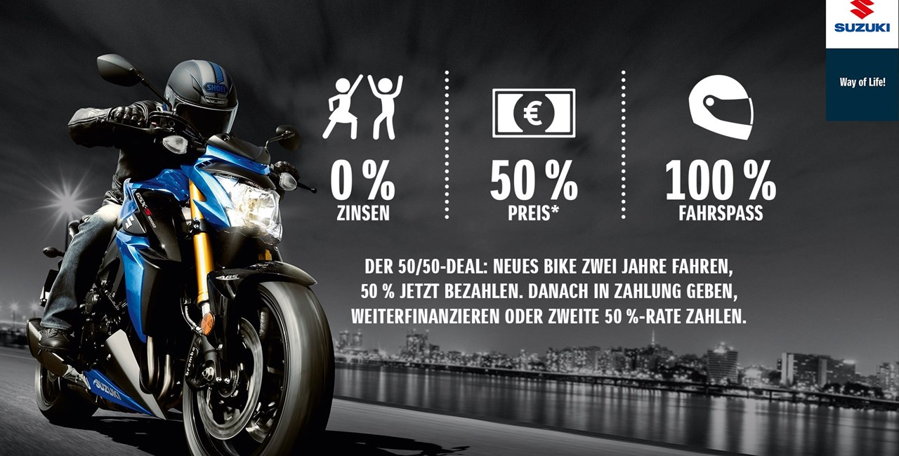 Suzuki 50/50 Finanzierungs Angebot