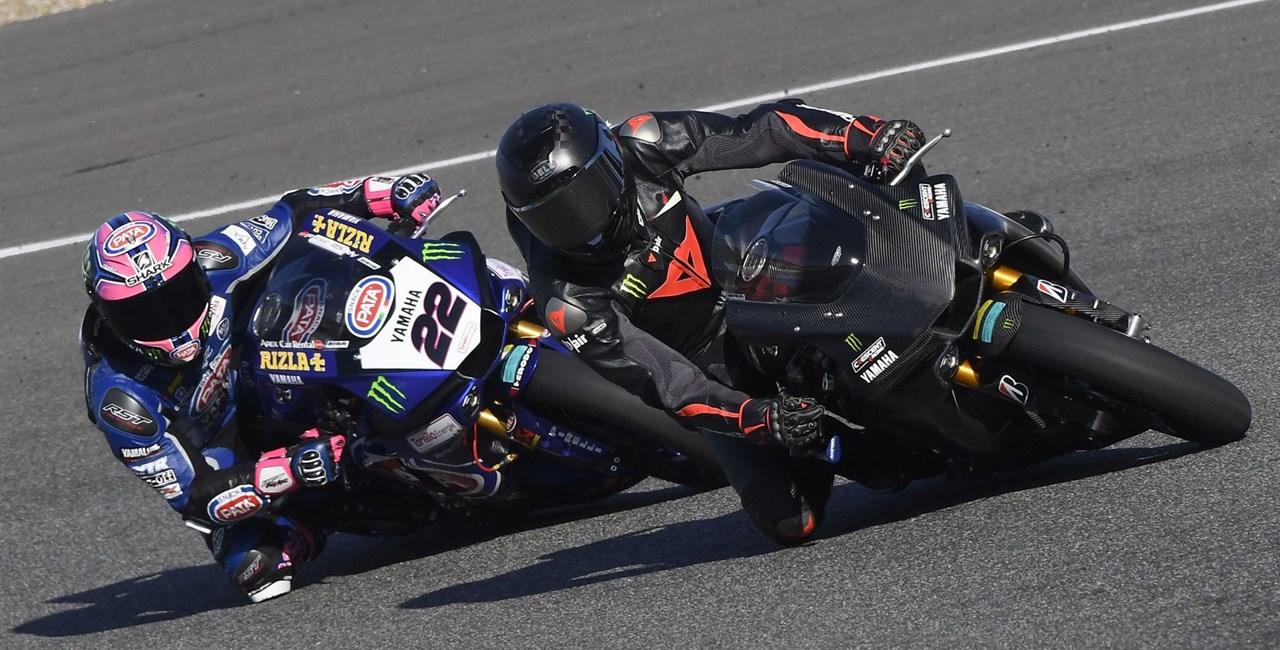 Lewis Hamilton Yamaha Superbike Test 2018