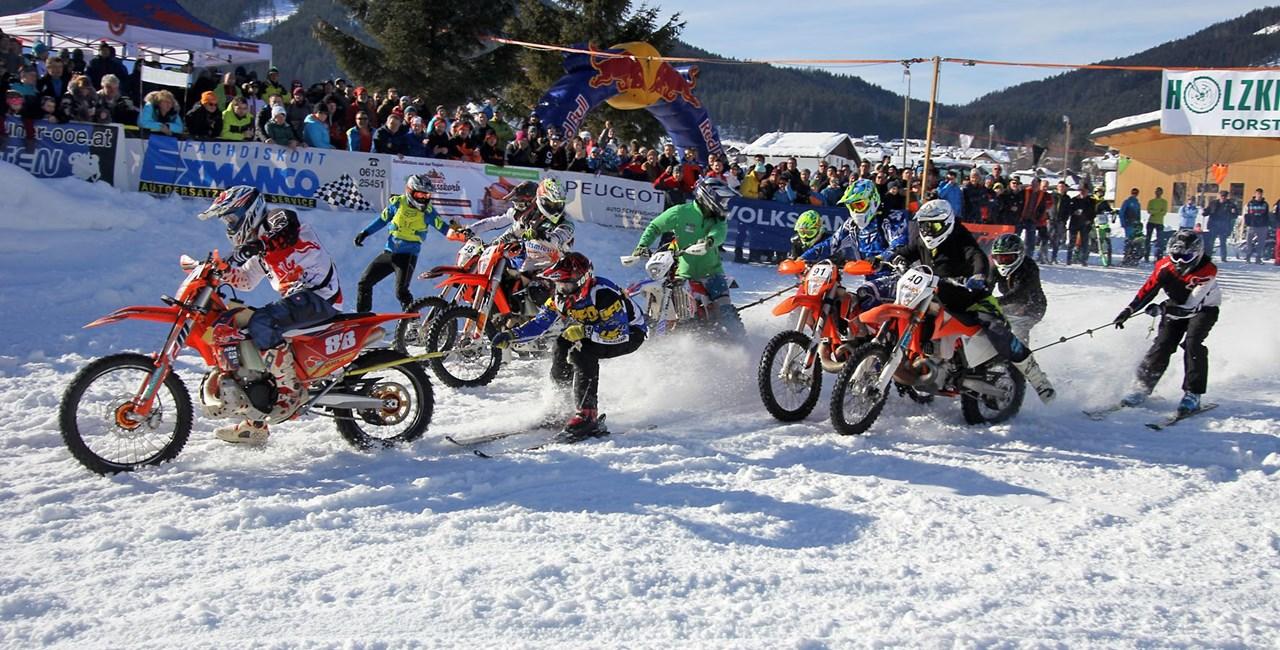 Das 7. Holzknecht-Skijöring in Gosau war ein riesiger Erfolg