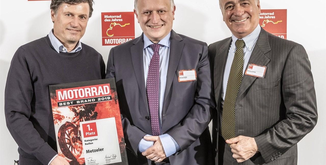 """METZELER gewinnt 2019 erneut die Motorrad """"Best Brand""""-Leserwahl"""
