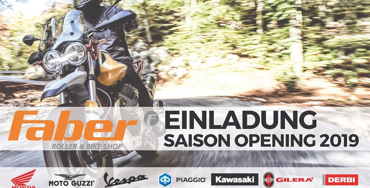 Saison Opening 2019 bei Faber von 4. bis 6. April 2019