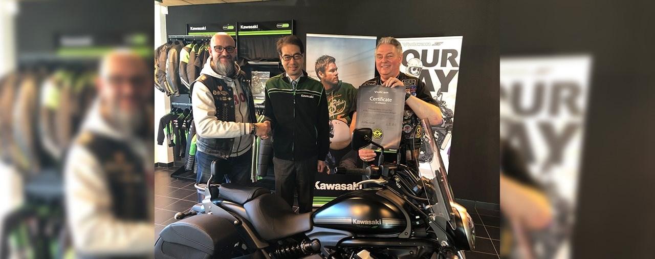 Kawasaki Europe würdigt die Vulcan Riders Association