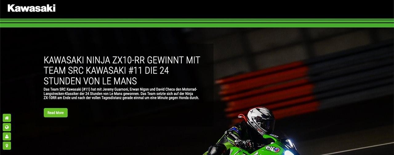 Neue Rennsport-Website von Kawasaki ist online