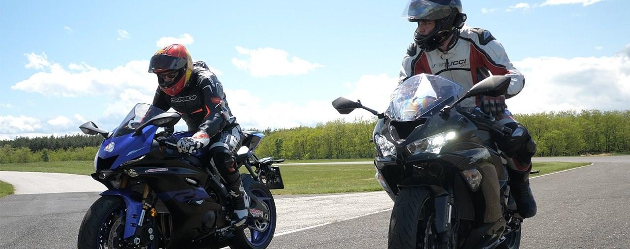 Kawasaki ZX-6R 636 und Yamaha R6 Vergleichstest am Pannoniaring