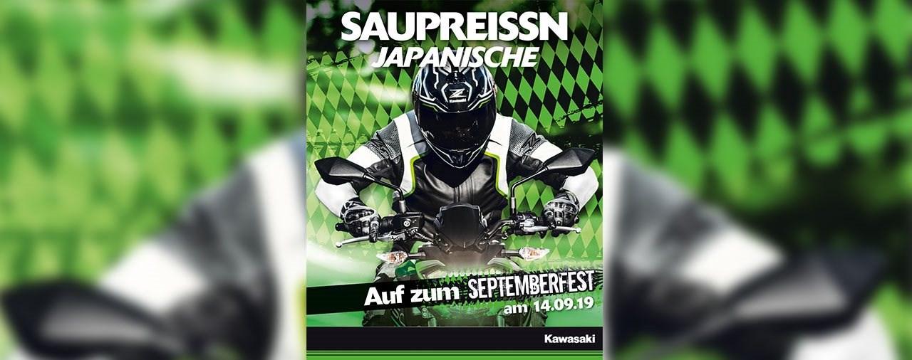 Kawasaki Händler laden zum Septemberfest am 14.09.2019 ein