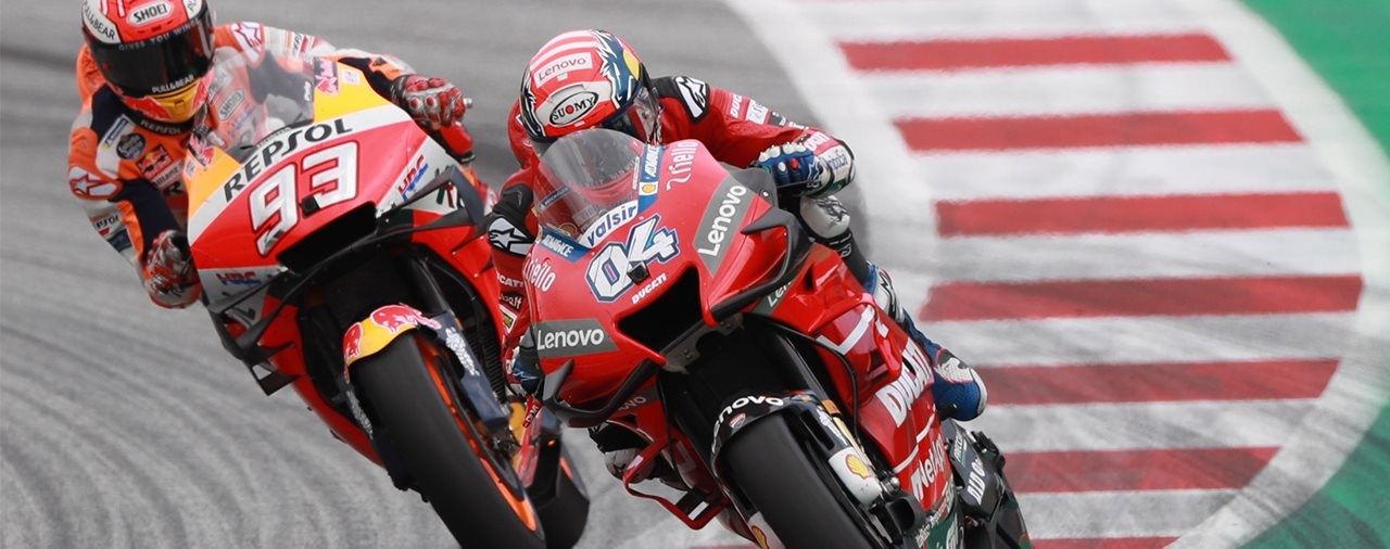"MotoGP ""verrückter"" Dovizioso bezwingt Marquez am Spielberg"