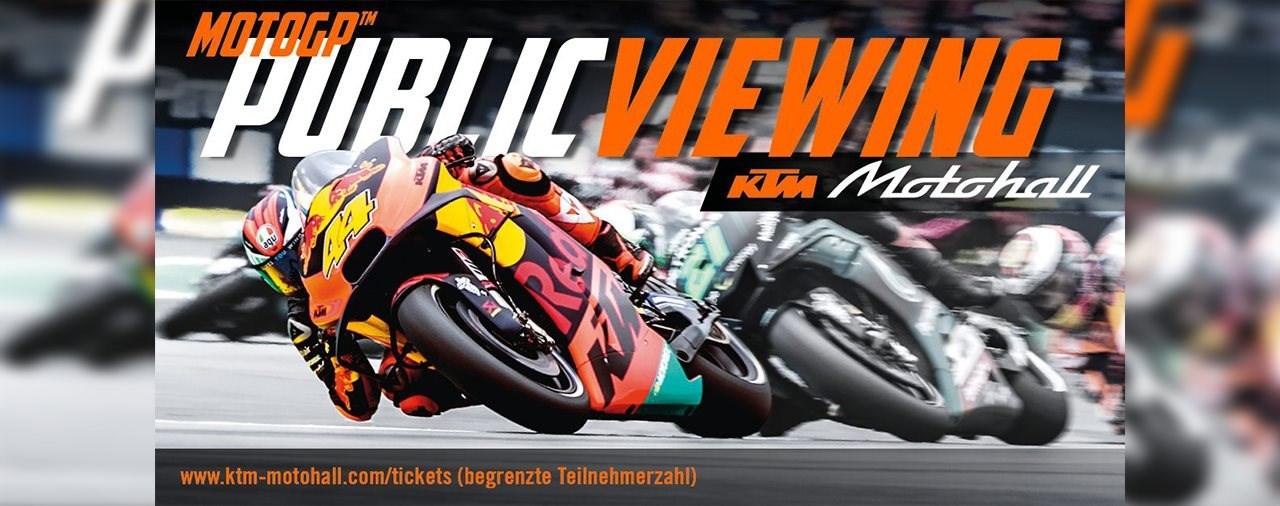 MOTOGP Auftakt von Katar LIVE in der KTM Motohall