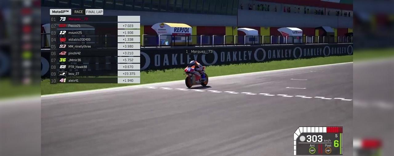 Alex Marquez gewinnt erstes Virtuelles MotoGP Rennen