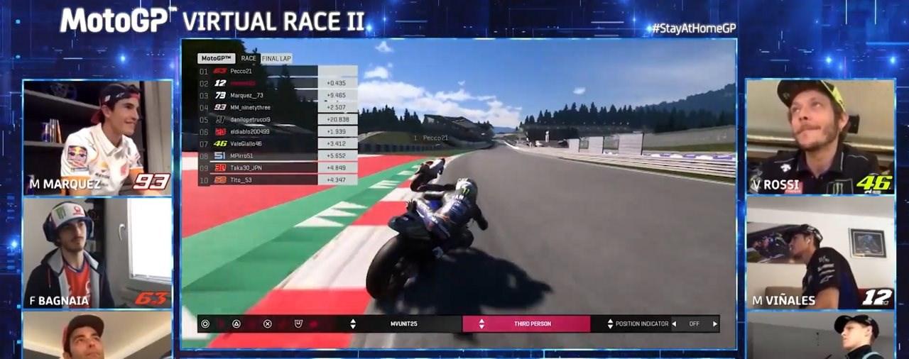 Bagnaia gewinnt zweites virtuelles MotoGP Rennen!