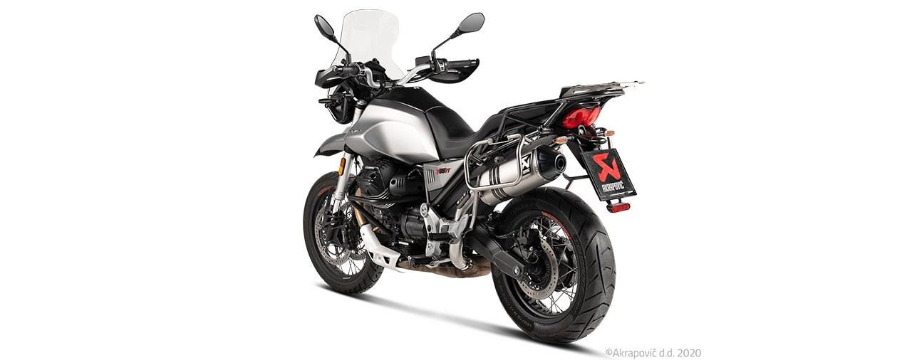 Akrapovič Auspuffanlage für die Moto Guzzi V85 TT