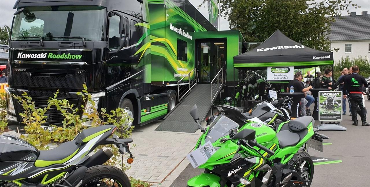 Kawasaki Roadshow sammelt Spenden für MEHRSi