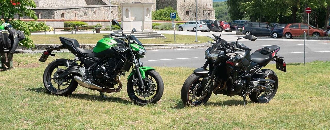 Kawasaki Z900 gegen Kawasaki Z650 Vergleich