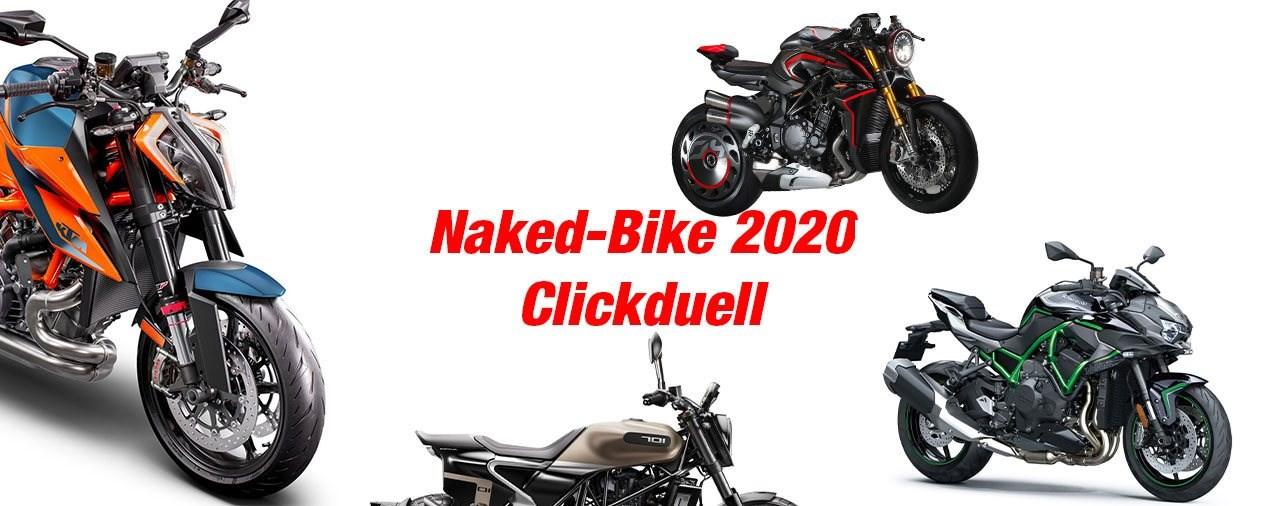 Wähle das beste Naked-Bike 2020! - Clickduell