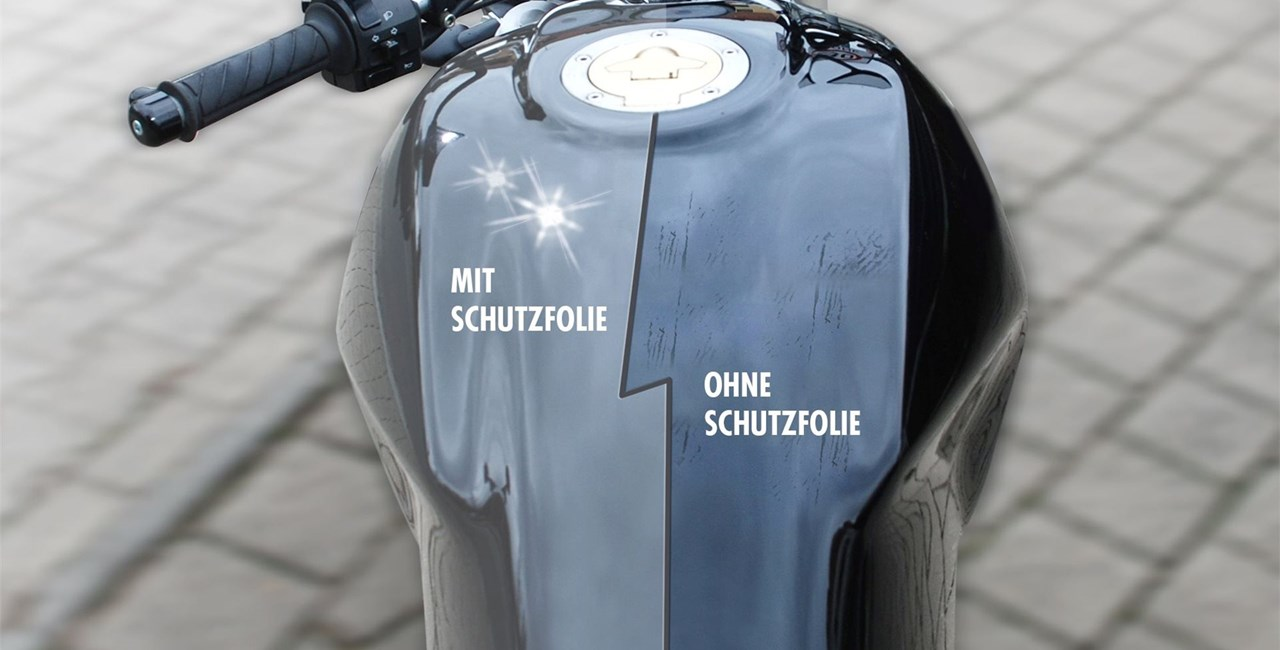Transparente Lackschutzfolie für Motorräder