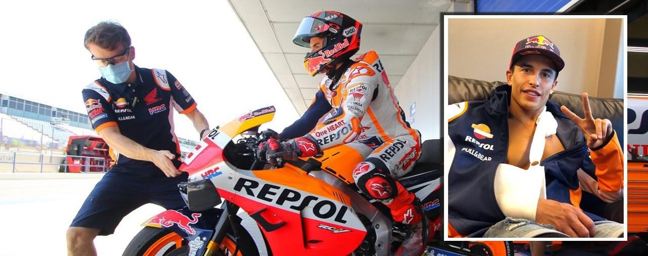 Kann sich Marc Marquez nach dem Sturz in Jerez erholen?