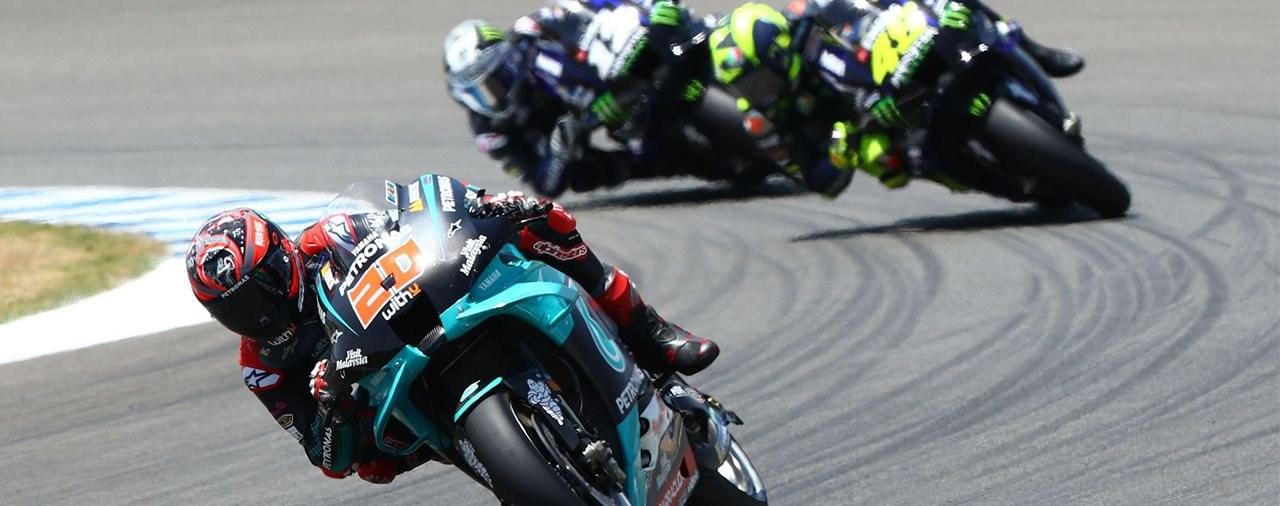 Yamaha dominiert zweites MotoGP Rennwochenende 2020