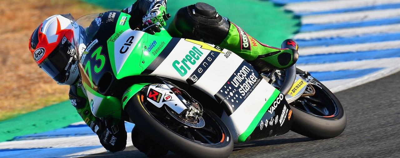 Maximilian Kofler erzielt Rang 18 im Moto3 Lauf in Jerez