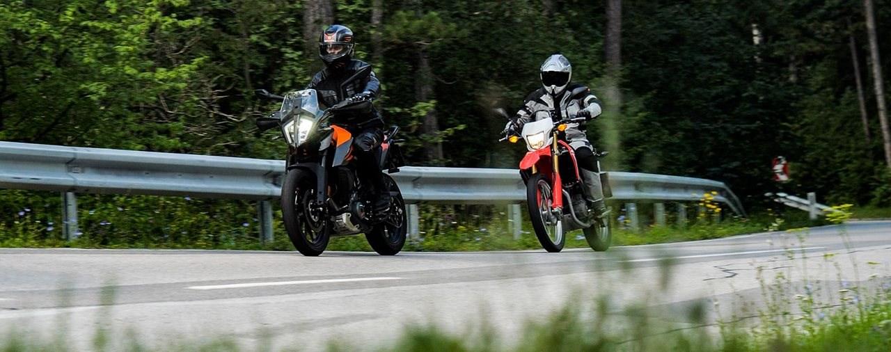 KTM 390 Adventure vs. Honda CRF250L Vergleich 2020
