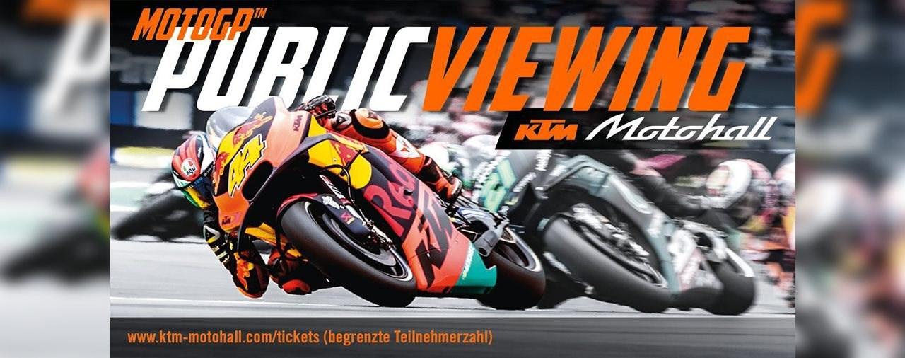 MotoGP Public Viewing in der KTM Motohall