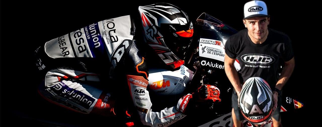 Albert Arenas setzt auch in der Moto2 auf HJC Helme