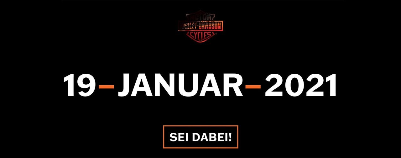 LIVE-Präsentation der 2021er Harley-Davidsons am 19.01