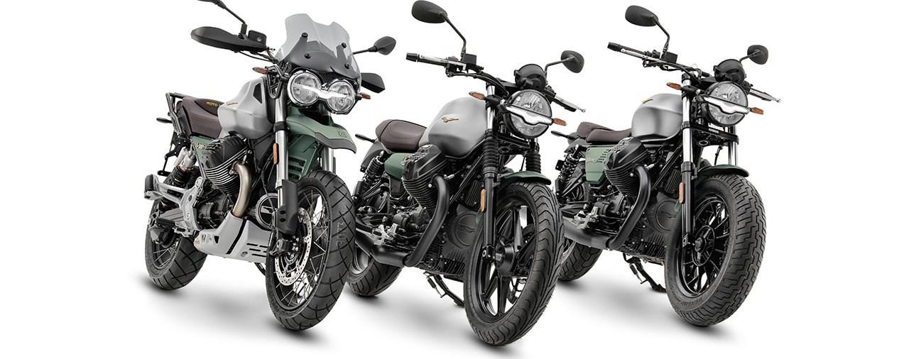 Moto Guzzi V85 TT, V7, V9 Centenario 2021