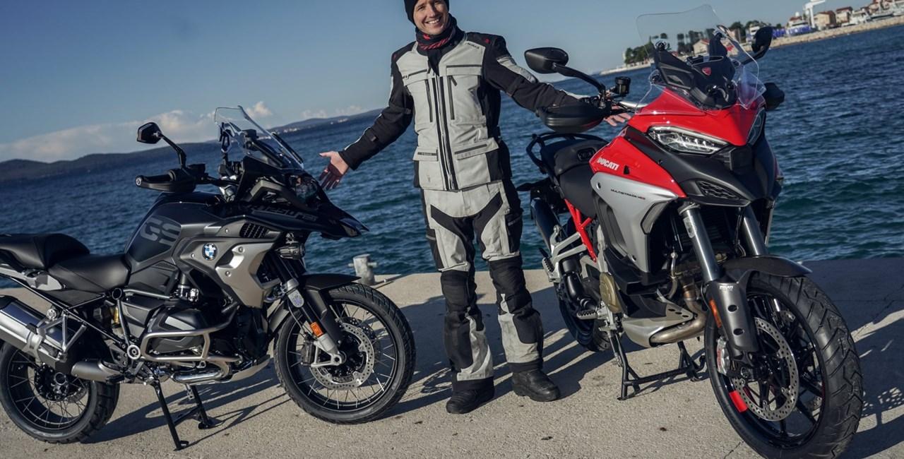 BMW R 1250 GS Vergleich Ducati Multistrada V4