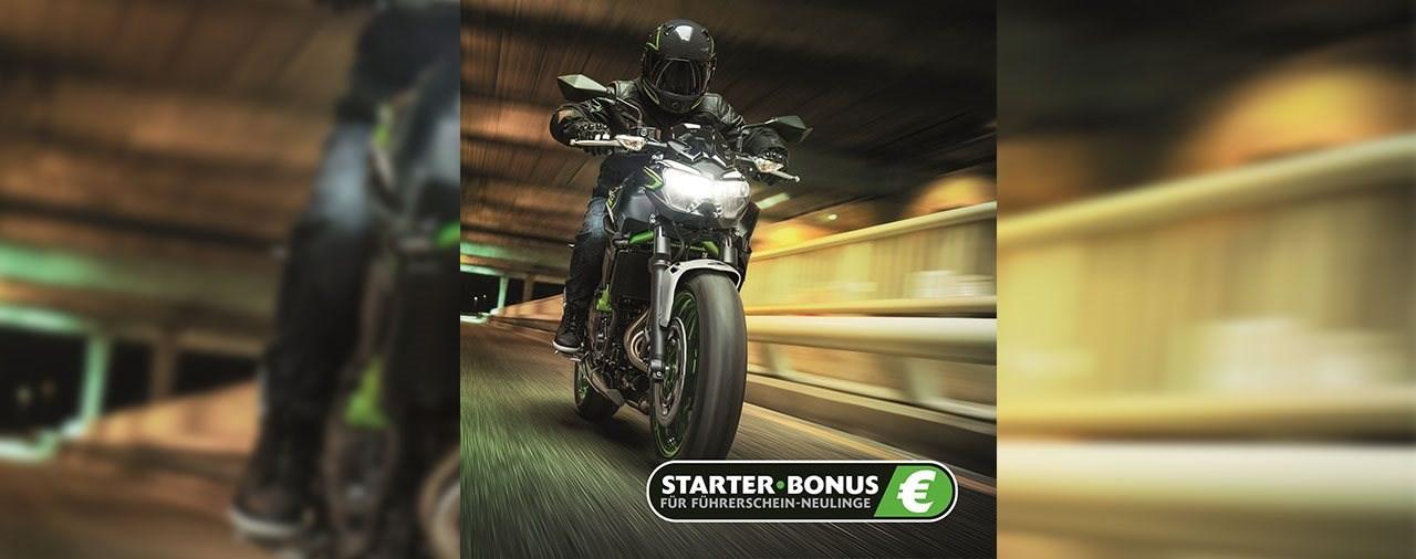 Mit dem STARTER-BONUS bis zu 800 € auf eine neue Kawasaki sparen