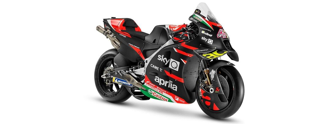 Die neue Aprilia RS-GP und das MotoGP-Team 2021
