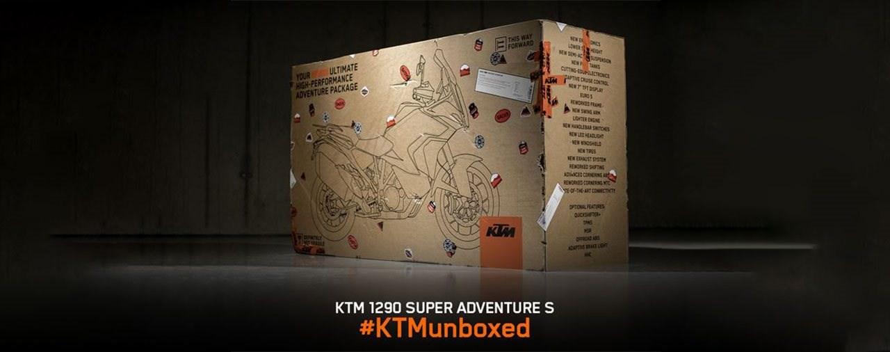 KTM Unboxing Events für die 1290 Super Adventure S 2021