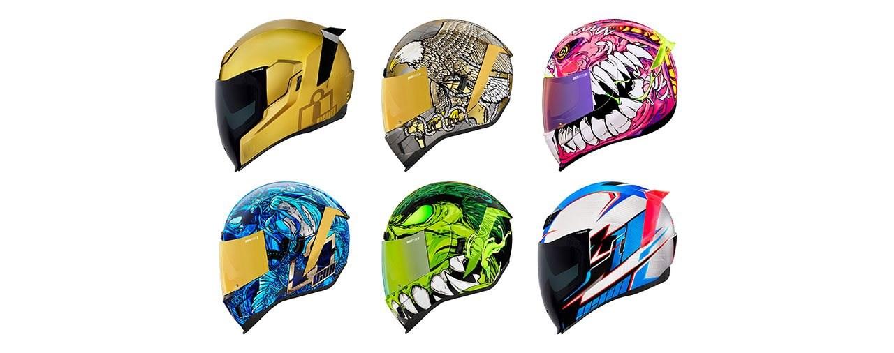 Neue Helme mit mächtigen Designs ICON Spring-Kollektion 2021