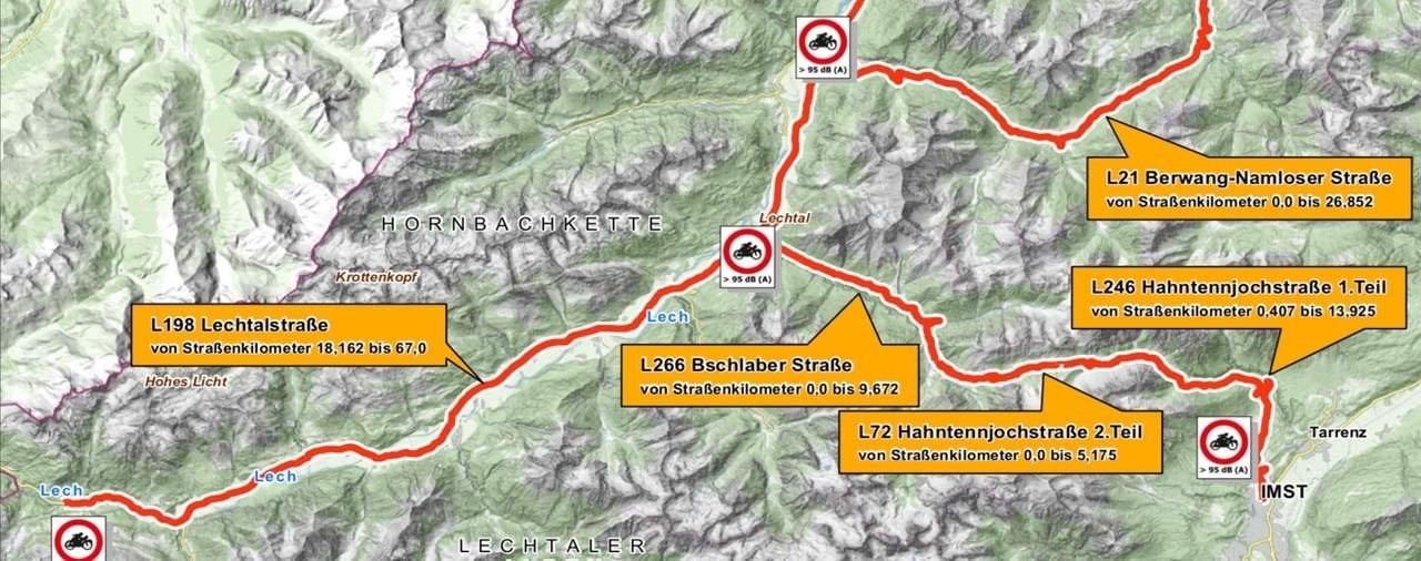 Motorrad Fahrverbot in Tirol kommt 2021 wieder - Strecken ident